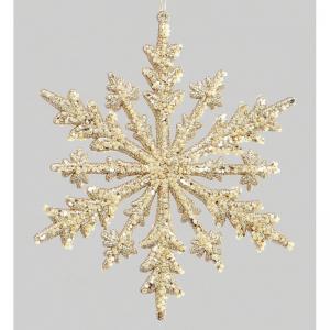17cm Snowflake gold YMU50454