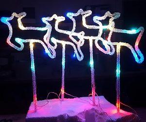 CH1040aLED reindeers