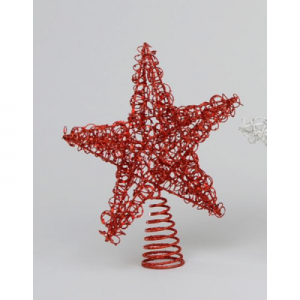 YMU21101 Wire tree topper red
