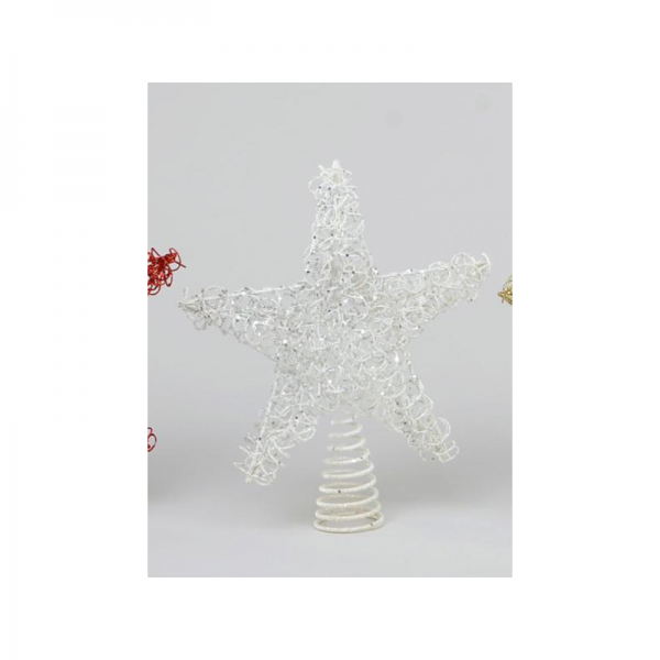 YMU21110 Wire Tree Topper white