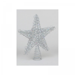 YMU21190 Wire tree topper silver
