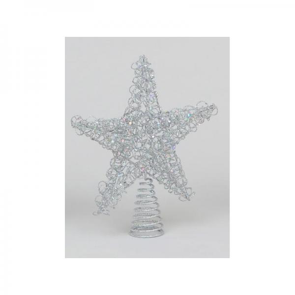 YMU21190 Wire tree topper silver