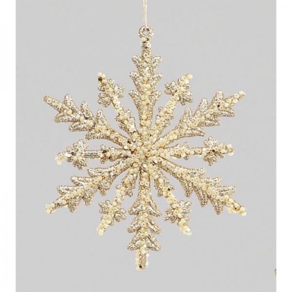 YMU50354 11cm Snowflake Gold
