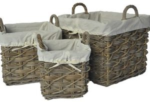 glenweave 3 square baskets ear handles at beechmount garden centre