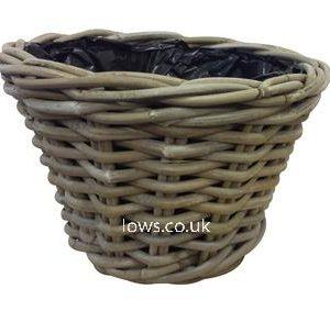 glenweave round planter with plastic liner at beechmount garden centre