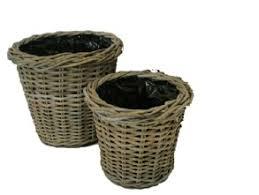 glenweave round planter with plastic liner set2 at beechmount garden centre