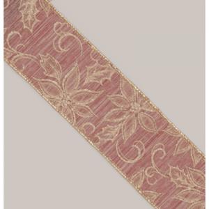 10y x 2.5in poinsettia ribbon rose 26955 at beechmount garden centre