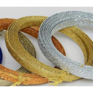 15ft glitter ribbon dec gold 22254 at beechmount garden centre