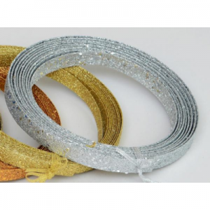 15ft glitter ribbon dec silver 22290 at beechmount garden centre