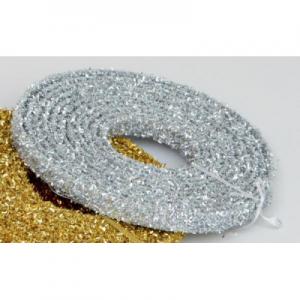 15ft glitter ribbon decoration silver 22190 at beechmount garden centre