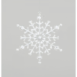 20cm acrylic frosted snowflake 84900 at beechmount garden centre
