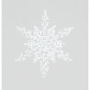 20cm snowflake hanger iridescant 89600 at beechmount garden centre