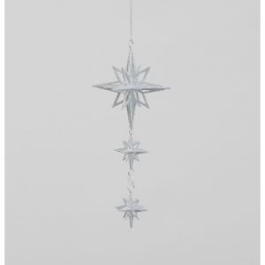 22cm glitter star x3 02090 at beechmount garden centre