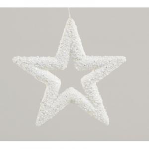 23cm star decoration white 45510 at beechmount garden centre