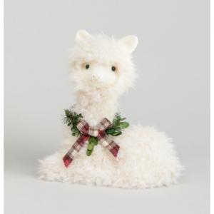 30cm alpaca ornament w bow 80300 at beechmount garden centre