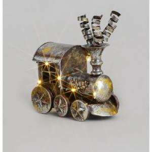 50cm metal train ornament at beechmount garden centre