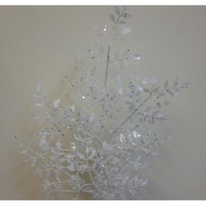 61cm glitter mini leaf spray white 46010 at beechmount garden centre