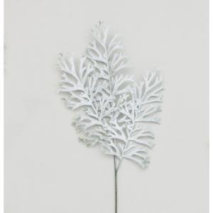 78cm flocked leaf spray x 3 67161 at beechmount garden centre