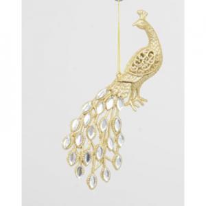 8in glitter gem peacock gold 92554 at beechmount garden centre
