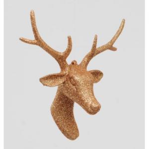 8in glitter reindeer head 13422 at beechmount garden centre