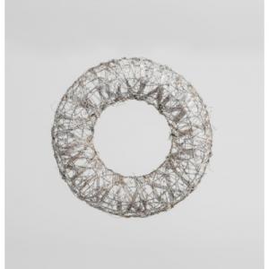 22in wired wreath champagne 25030222 at beechmount garden centre