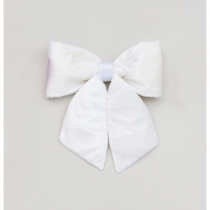 28cm plush bow decoration cream at beechmount garden centre