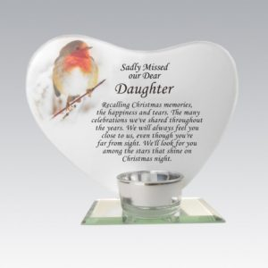 daughter glass plaque grave ornament at beechmount garden centre