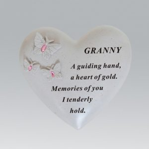 butterfly heart granny grave ornament at beechmount garden centre