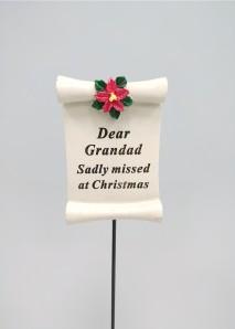 christmas grave ornament at beechmount garden centre