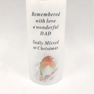 DAD candle grave ornament at beechmount garden centre