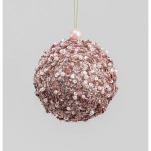 100mm sequin ball decoration rose 15455 at beechmount garden centre