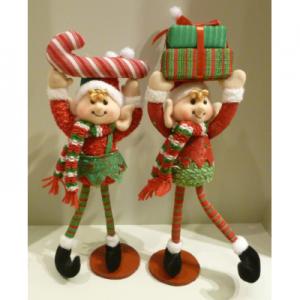 13in elf ornament boy girl 53100 at beechmount garden centre