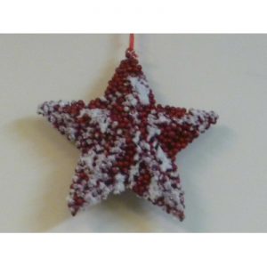 15cm frosted berry star hanger red 93101 at beechmount garden centre
