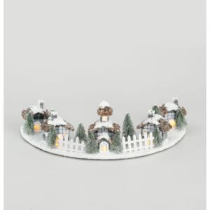 60cm house x5 ornament wlight yyy16400 at beechmount garden centre