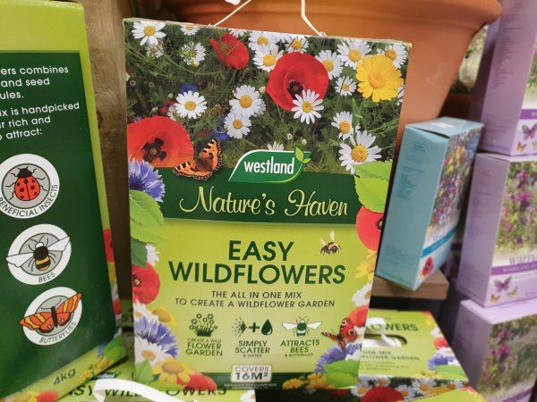 natures haven wildflower seed at beechmount garden centre
