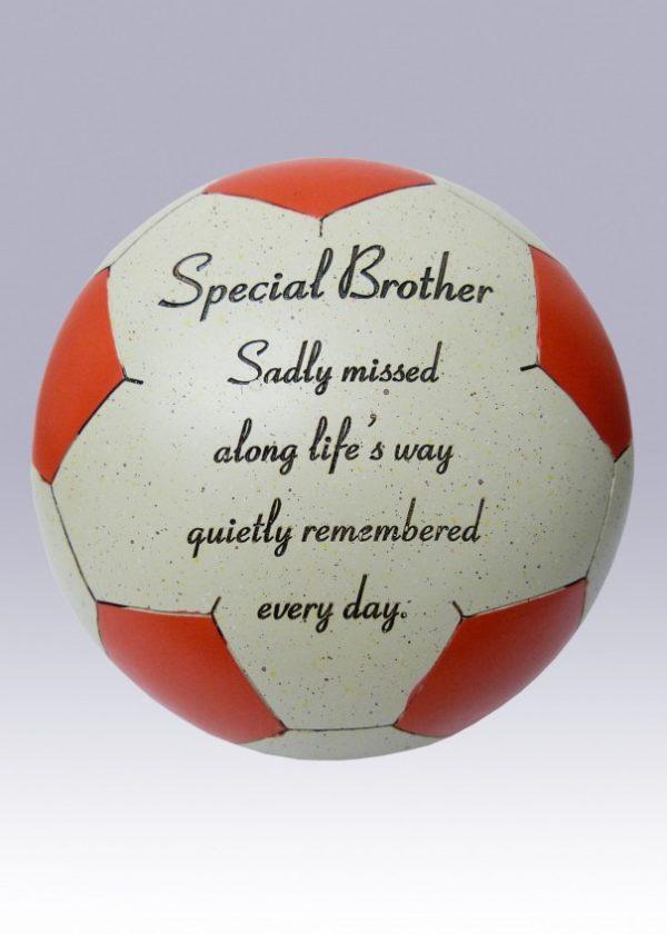 brother football grave ornament at beechmount garden centre