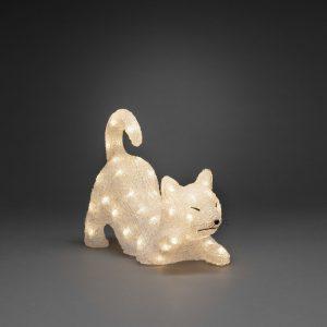 acrylic cat 35cm LED at beechmount garden centre