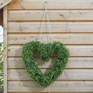 faux boxwood heart at beechmount garden centre