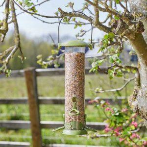 seed feeder at beechmount garden centre