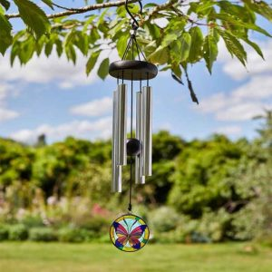 butterfly windchime at beechmount garden centre