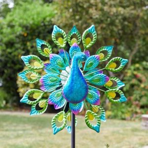 peacock windspinner at beechmont garden centre