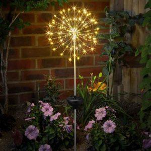starburst stake solar light at beechmount garden centre