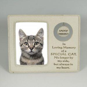 In Loving Memory cat frame AT BEECHMOUNT GARDEN CENTRE